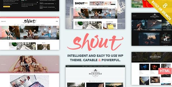 Shout - Blogging HTML Template - Site Templates