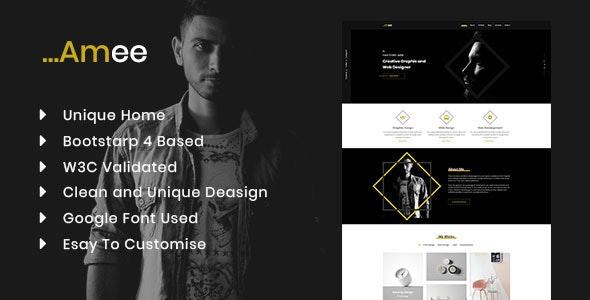 Amee HTML5 Portfolio Template - Portfolio Creative