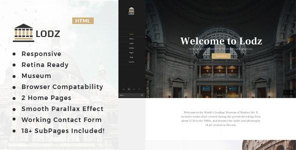 Lodz - Museum & Exhibition HTML Template - Nonprofit Site Templates