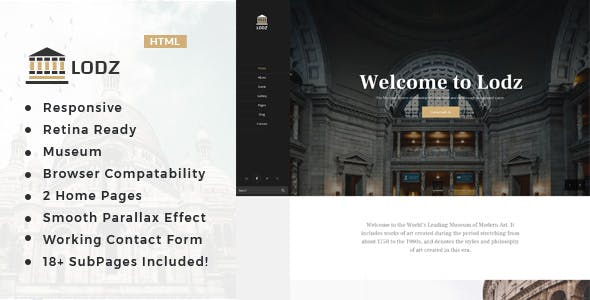 Lodz - Museum & Exhibition HTML Template