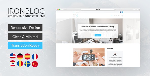 Iron Blog - Responsive Ghost Theme - Ghost Themes Blogging