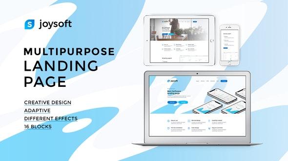 Joysoft – Multipurpose Landing Page Template - Technology Site Templates