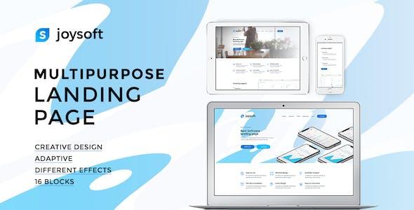 Joysoft – Multipurpose Landing Page Template