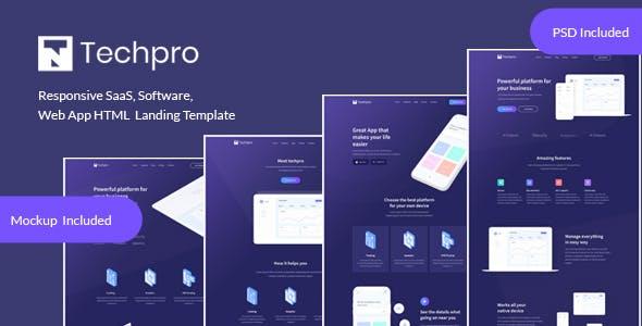 Techpro - App, Saas, Software & WebApp Landing Template