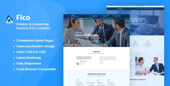Fico - Finance HTML Template - Business Corporate