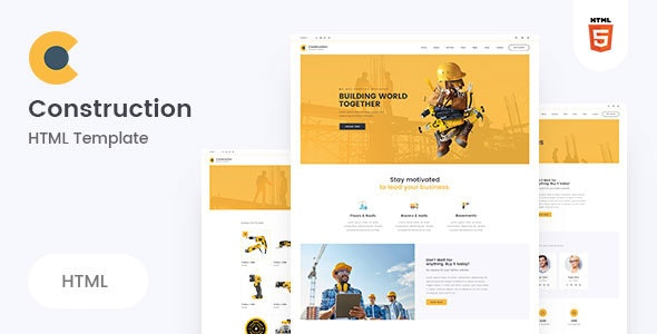 Neerman - Clean Construction HTML5 Template - Business Corporate