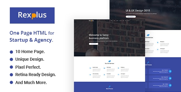 RexPlus - One Page Parallax - Business Corporate