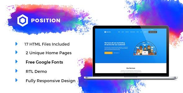 Position HTML5 SEO Marketing Template