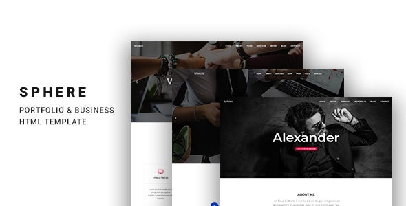 Sphere - One Page Template for Portfolio & Business - Creative Site Templates