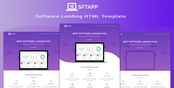 STFPP - Software Landing Page HTML Template - Software Technology