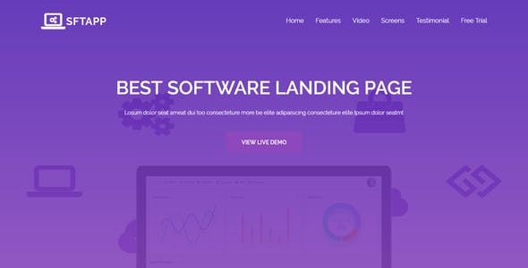 STFPP - Software Landing Page HTML Template