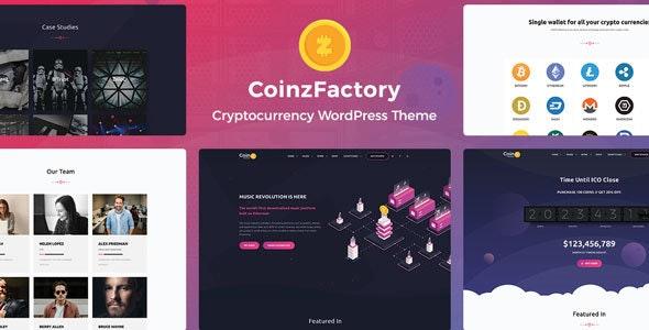 CoinzFactory - Cryptocurrency WordPress Theme - Technology WordPress