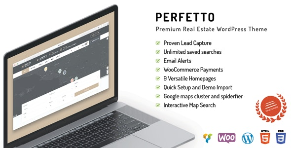 Perfetto - Premium Real Estate WordPress Theme - Real Estate WordPress
