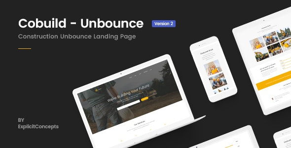 Unbounce Construction Landing Page Template - Cobuild - Unbounce Landing Pages Marketing