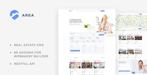 Area – Real Estate WordPress theme for Agencies and Realtors