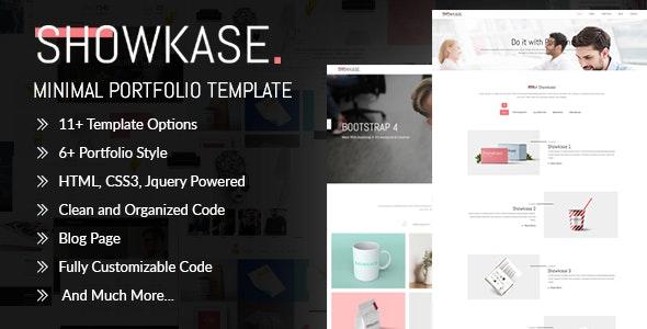 Showkase - Minimal Portfolio Template - Creative Site Templates