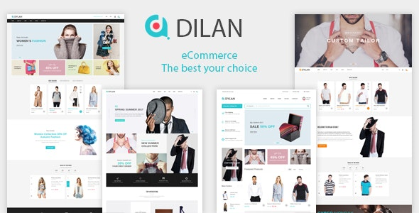 Dilan – Fashion Store HTML Template - Fashion Retail