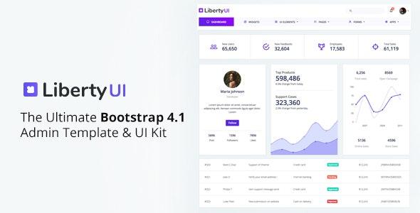 LibertyUI Bootstrap 4 Admin Template - Admin Templates Site Templates