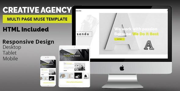 SENDO Creative Adobe Muse Template - Creative Muse Templates