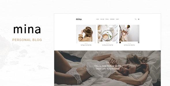 Mina - Personal Blog PSD Template - Creative Photoshop