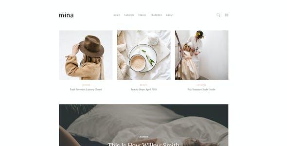 Mina - Personal Blog PSD Template