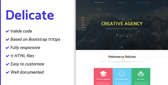 Delicate - Multipurpose Creative Agency HTML Template - Site Templates