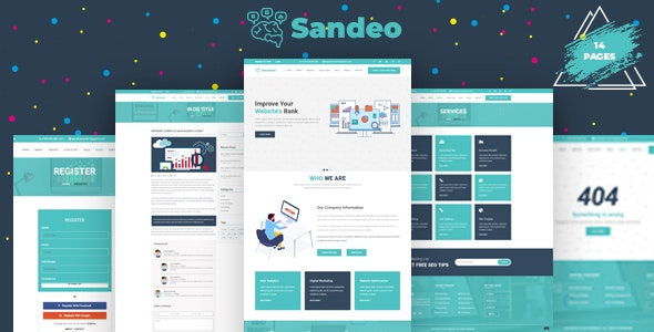 Sandeo - Seo & Digital Agency Responsive Bootstrap Template - Marketing Corporate