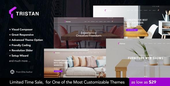 Tristan - Creative Furniture & Interior WordPress Theme - Portfolio Creative