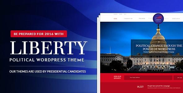 Liberty - Your Political WordPress Theme - Political Nonprofit