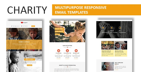 Charity - Multipurpose Responsive Email Template With Online StampReady Builder Access - Newsletters Email Templates