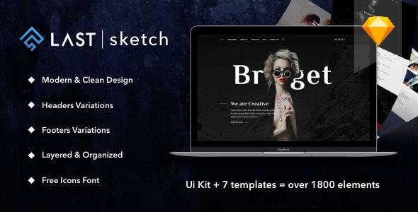 Last | Sketch - Sketch UI Templates