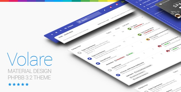 Volare - Material Design phpBB 3.3 Theme - PhpBB Forums