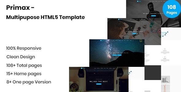 Primax - Multipurpose HTML5 Template - Creative Site Templates