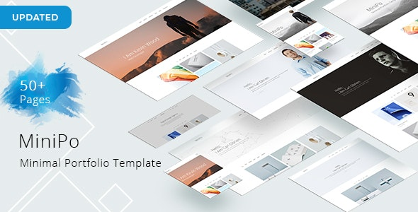 MiniPo - Minimal Portfolio Template - Portfolio Creative