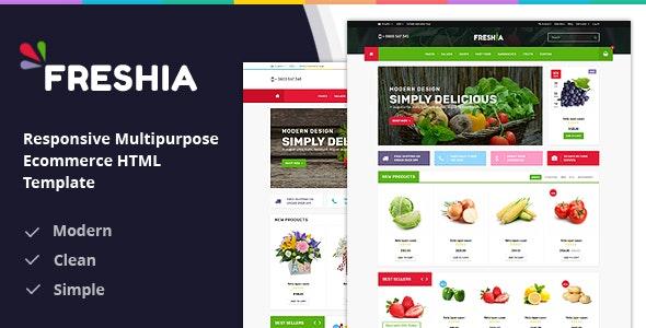 Freshia Responsive Ecommerce HTML Template - Food Retail