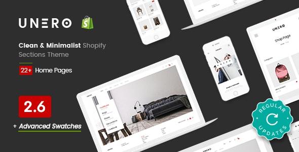 Unero - Clean & Minimal Shopify Sections Theme - Fashion Shopify