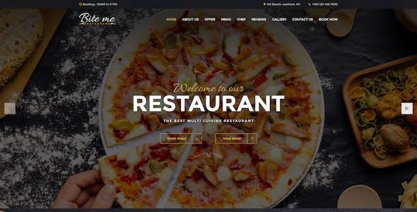BiteMe- Restaurent Landing Page HTML Template