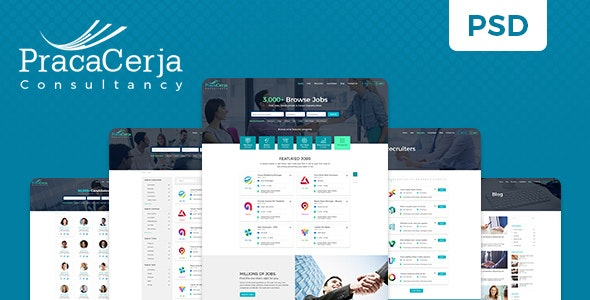 Praca Cerja Consultancy PSD Template - Photoshop UI Templates