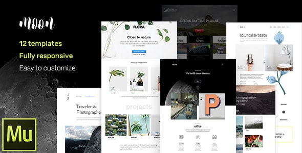 moon - Responsive Portfolio Adobe Muse Templates by