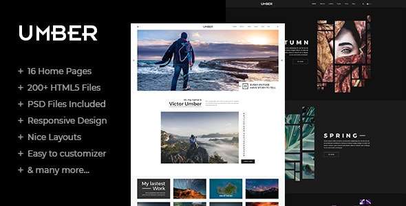 Umber | Photography HTML5 Template - Photography Creative