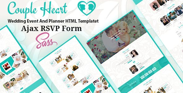 Couple Heart - Wedding Event And Planner HTML Template by unlockdesign