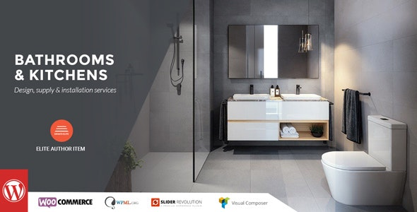 Bathrooms And Kitchens - WordPress Theme - Business Corporate