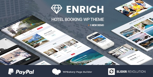 Enrich – Hotel Booking WordPress Theme - Travel Retail