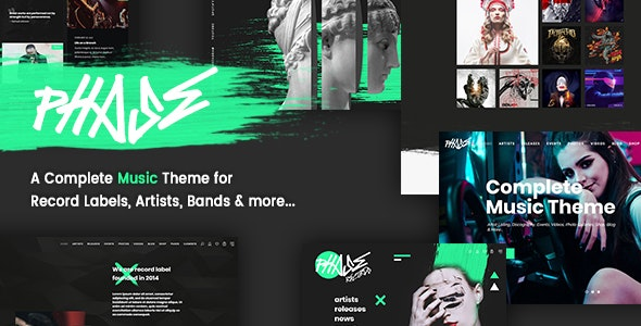 Phase - A Complete Music WordPress Theme for Record Labels and Artists - Music and Bands Entertainment