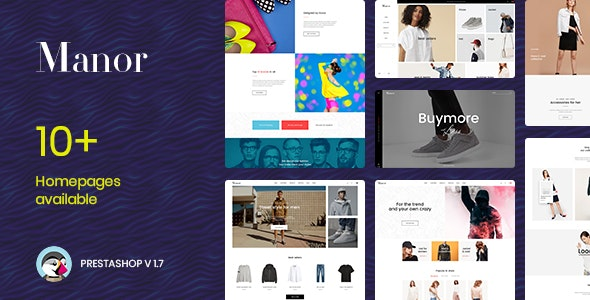 Manor Fashion Prestashop 1.7.6.x Theme - Fashion PrestaShop