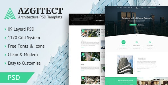 Azgitect - Architecture PSD Template - Business Corporate