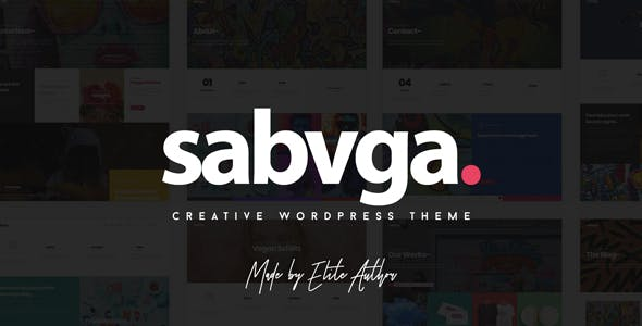 Sabvga - Modern & Creative Portfolio Theme