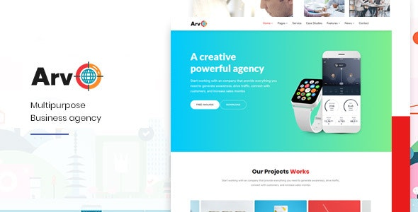Arvo-Multipurpose HTML Template - Portfolio Creative