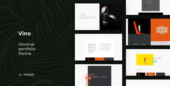 Vino - A Minimal Portfolio Theme - Portfolio Creative