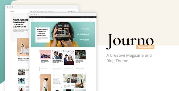 Journo - Creative Magazine & Blog Theme - News / Editorial Blog / Magazine